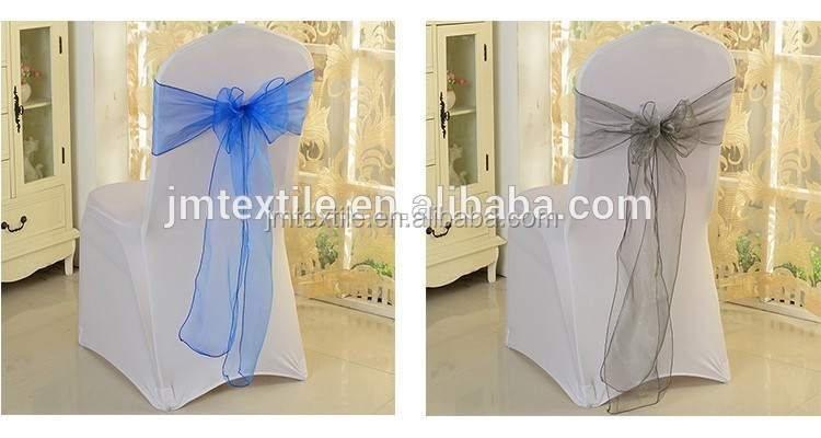 factory Good quality sheer organza chair cover sashes for wedding party banquet decoration