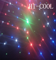 HI-COOL led curtain light for stage /flexible led star curtain for wedding