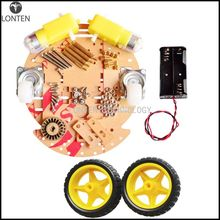 For aduino Smart Car Chassis 2wd Robot Tracing Strong Magnetic Motor Car RT-4 Avoidance Car With Code Disk