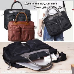New Design Delicate Twill Cotton Tote/Shoulder/Notchback Smart Business Bag For 13' Laptop, Tablet & Digital Accessories