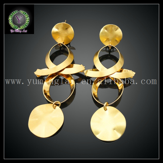cheap earring gold plated ,fashion gold plated earring Match Clothes FHK811