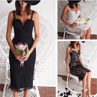B33062A High quality new coming women Floral Lace Club bodycon Dress OEM supplier