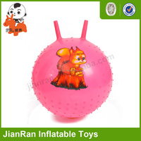 PVC inflatable toys/grip balls with horns/ decorative balls with stick