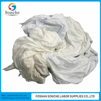 white waste cloth cotton wiping rags shop rags