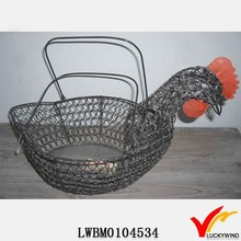Vintage Decorative Metal Wire Fruit Display Animal Shape Baskets