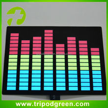 Top quality sound active lighting up equalizer led panel for t-shirt