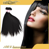 Premium Natural Human Hair With Tangle Free 100 Percent Peruvian Silky Straight Hair Weave