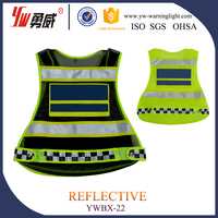 reflective safety vest with warning light