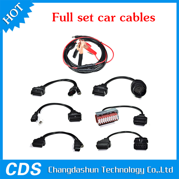 High quality Full set car 8 cables for cdp tcs pro Plus mvd Multidiag pro OBD2 car leads diagnostic interface OBD II cable