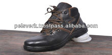 Men Leather Safety Shoes in Cow Leather with Steel Toe and PU Sole