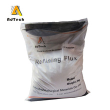 Cover flux and refining flux for aluminium melting casting