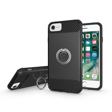 Trade Assurance 360 rotating metal ring case with stand for iphone 7