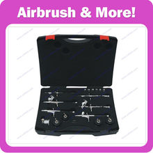 <strong>Airbrush</strong> Kit with 6 Different <strong>Airbrush</strong>: Single Action <strong>Airbrush</strong> & Double Action <strong>Airbrush</strong>,Gravity Feed Type and Siphon Feed Type.
