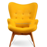 2016 high quality modern solid ash wood egg Featherston Chair living room chairs