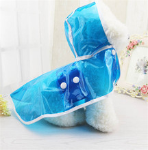 PinPai Brand wholesale fashion big colorful PU waterproof pet clothes dog raincoat