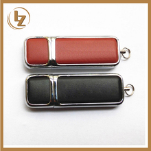 Leather Custom Logo USB 2.0 4GB-16GB Flash Drive for Computer Promotion