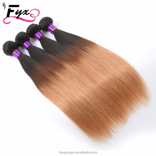 Cheap Mixed 2pcs lot Brazilian Straight hair extensions Ombre brazilian hair weave two toned Brazilian human hair wefts 1b/30#