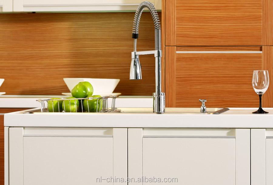 Contemporáneo cocina armarios de madera sin marco moderno puertas ...