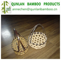 2015 New Bamboo Weaving Hollow Basket with black handle