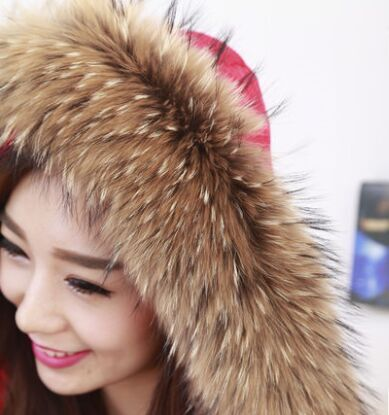 Factory price real raccoon women trim detachable fur collar