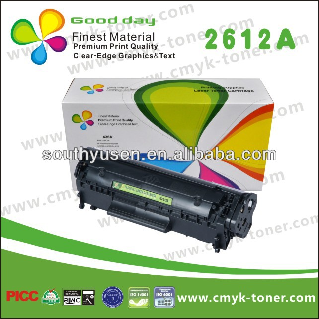 HOT Toner in 2015! Compatible for HP12a Toner Cartridge for Printer LJ1010 / 1012 Made in China