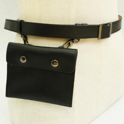 Sexy waist bag cell phone leather belt bag
