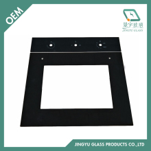 3mm 4mm polished edge tempered oven door glass
