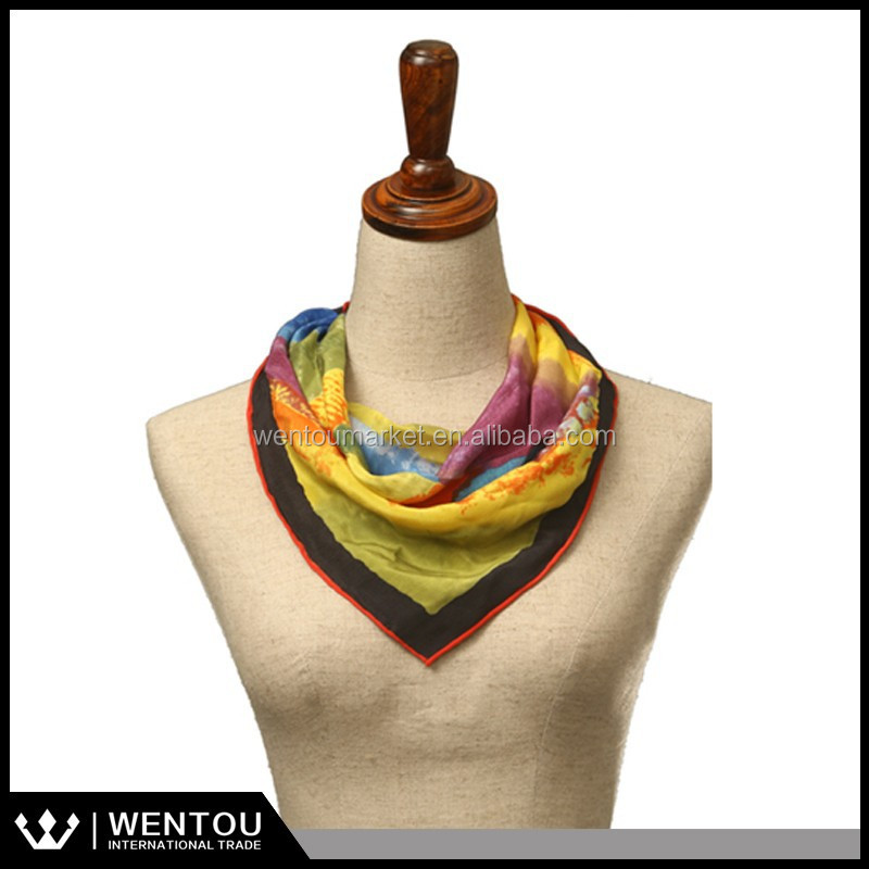 excellent silk scarf bound pure silk scarf