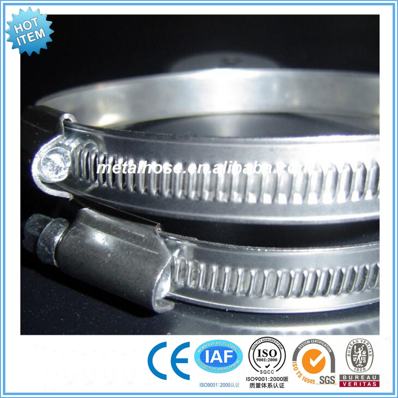 American type galvanized steel metal hose clamps