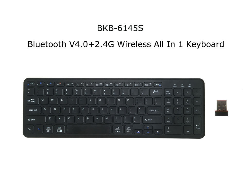 2017 NEW Bluetooth V4.0 +2.4G Wireless all in one Slim Design Portable Keyboard For iPAD Air &Pro/iPHONE 7/PC.