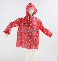 New arrival 210T Polyester poncho light weight kids raincoat for girls