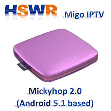 2017 ipremium migo 4k IPTV Smart android 5.1 TV Box with OTA update function