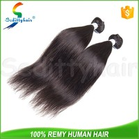 Wholesale 7a remy brazilian silky straight wave human hair extension with high quality