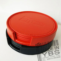 Alibaba China PU leather cup mat/coffee cup mats/coffee pot mat