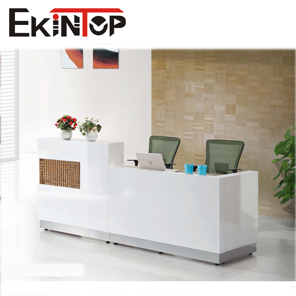 Modern reception table front office furniture design