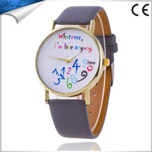 Colorful Whatever, I'am late anyway watch Fashion Women Quartz Laides Dress Watches LW034