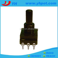 jiangsu 16mm 3 pin rotary remote control linear potentiometer with plastic shaft
