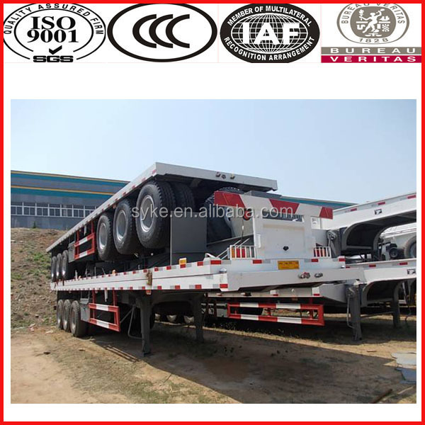 1 year guarantee flatbed trailer with container lock