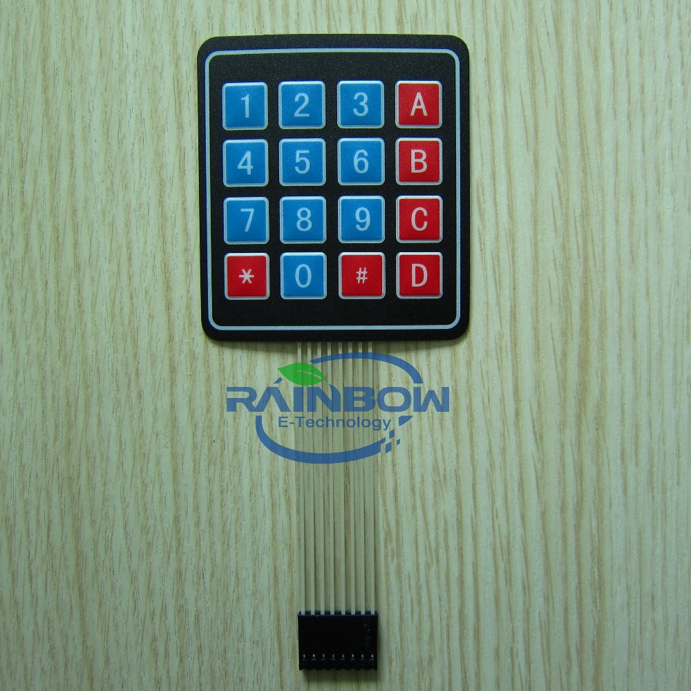 4X4 Matrix Keyboard 16 Key Membrane Switch Expansion Keypad Panel 4*4 Control