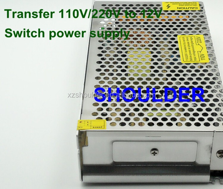 AC 110V / 220V to DC 12V 10A 120W Voltage Transformer Switch Power Supply for Led Strip & Led billboard free shipping