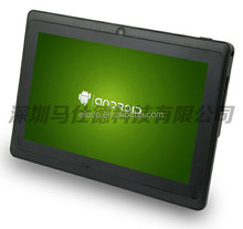 Factory direct selling 7 inch Allwinner A13 1.2Ghz Q8mini android tablet.