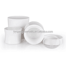 15g Lid Plastic Cosmetic Jar for Makeup Packaging 15g/15g White PP Material