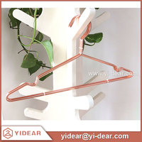 Free Shipping Rose Gold Metal Wire Coat Hanger for Sale