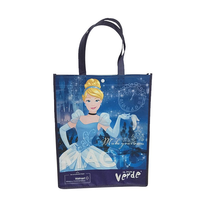 OEM production recyclable full color printing foldable shopping bag