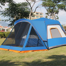 double lays 5-8persons relax big camping tent quick automatic opening one bedroom&one living room four season tent