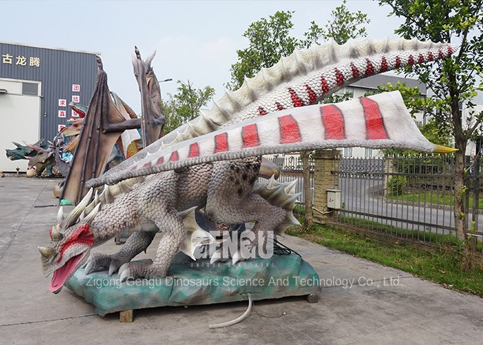Playground Decoration 3d Resin Dragon Statues