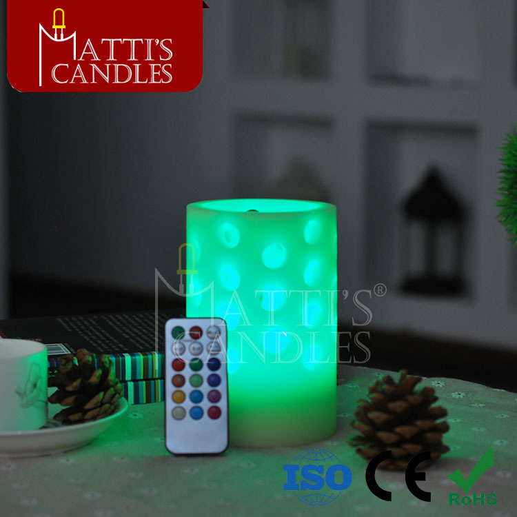 beatutiful LED candle light with battery operated