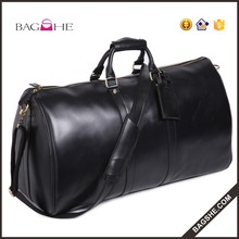 Luggage Duffle Bags Unisex Genuine Leather Travel Bag