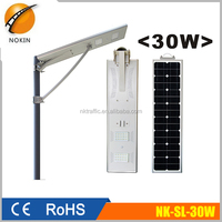 30W CE& RoHS solar led street light for outdoor