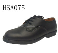 plain design unshining leather police officer shoes for formal occasion